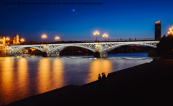 Puente de Triana or Triana Bridge, Seville, Spain Canvas print by Alexandre Rotenberg