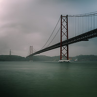 Buy canvas prints of 25 April Bridge, Lisbon, Portugal by Alexandre Rotenberg