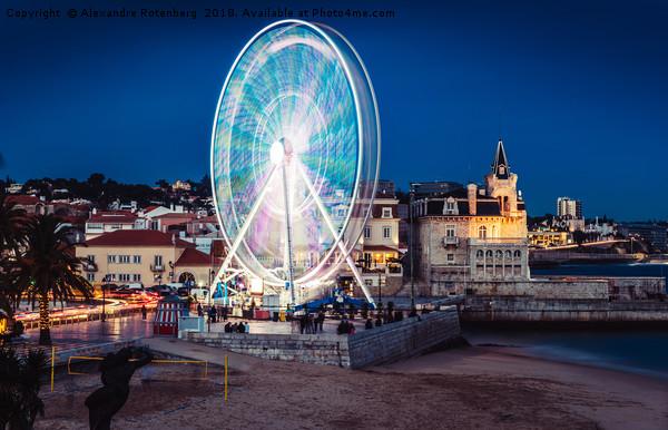 Ferris Wheel in Cascais, Portugal Canvas print by Alexandre Rotenberg