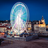 Buy canvas prints of Ferris Wheel in Cascais, Portugal by Alexandre Rotenberg