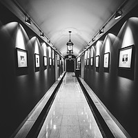 Buy canvas prints of Wide angle long corridor diminishing perspective by Alexandre Rotenberg