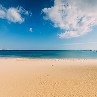 Buy canvas prints of Empty Sunny Beach by Alexandre Rotenberg