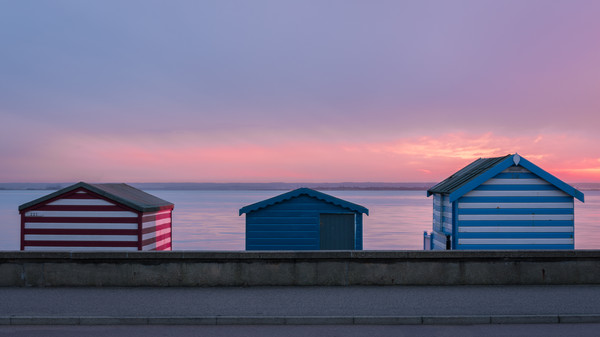 Seaside Huts Canvas print by Daniel Farrington