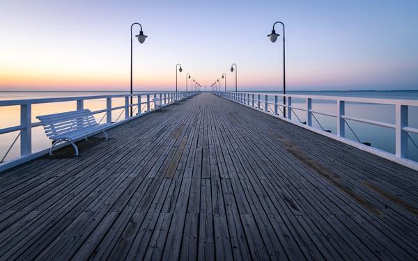 Sunrise over the Baltic Sea Canvas print by Daniel Farrington