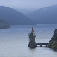 Buy canvas prints of Lake Vyrnwy Water Tower by Kelly Bailey