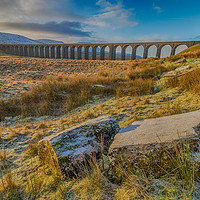 Buy canvas prints of Ribblehead Viaduct Sunrise by Tony Keogh