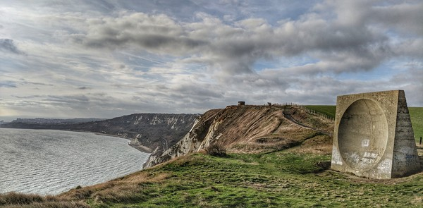 Abbot's Cliff Sound Mirror Canvas Print by Richard May
