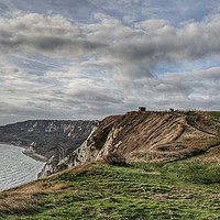 Buy canvas prints of Abbot's Cliff Sound Mirror by Richard May