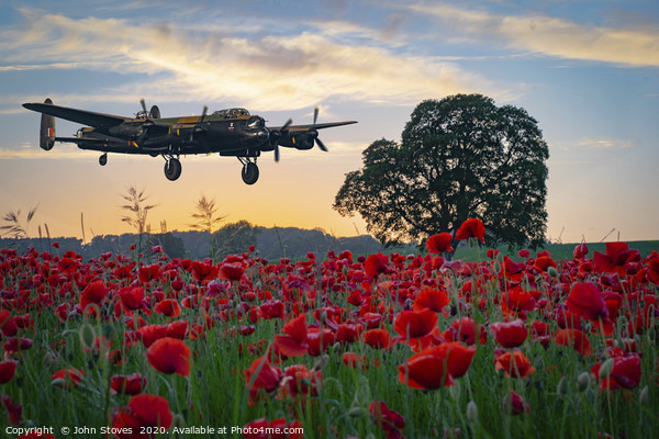 Lancaster Bomber coming home! Acrylic by John Stoves