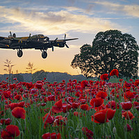 Buy canvas prints of Lancaster Bomber coming home! by John Stoves