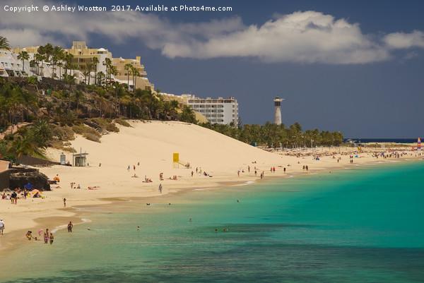 Playa de la Cebada, Fuerteventura Canvas print by Ashley Wootton