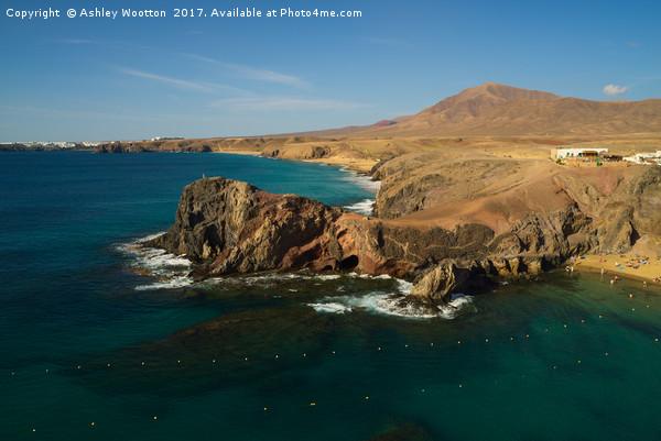 Papagayo Headland, Lanzarote Canvas print by Ashley Wootton