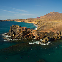 Buy canvas prints of Papagayo Headland, Lanzarote by Ashley Wootton