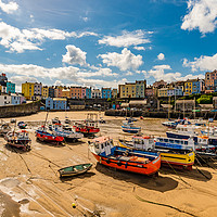 Buy canvas prints of Tenby Harbour by RICHARD MOULT