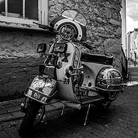 Buy canvas prints of Classic Motor Scooter by RICHARD MOULT