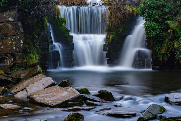 Penllergaer Waterfall at Valley Wood Swansea Canvas print by RICHARD MOULT