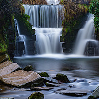 Buy canvas prints of Penllergaer Waterfall at Valley Wood Swansea by RICHARD MOULT