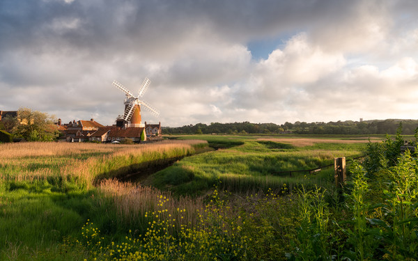 Cley Windmill Framed Mounted Print by David Semmens