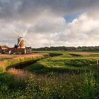 Buy canvas prints of Cley Windmill by David Semmens
