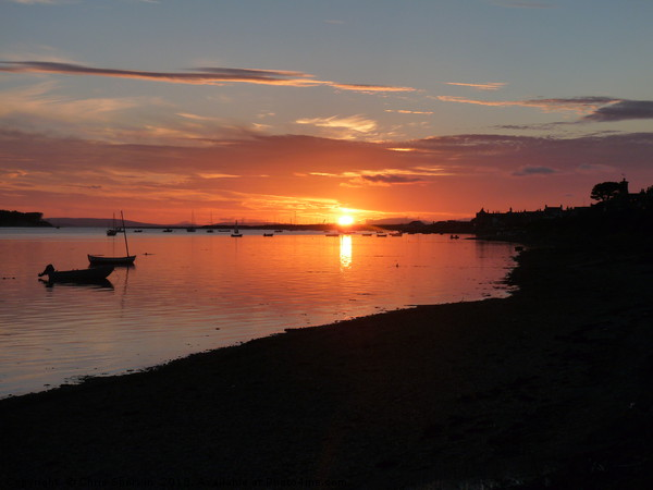 Findhorn sunset  Canvas print by Chris Sherwin