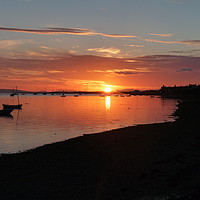 Buy canvas prints of Findhorn sunset  by Chris Sherwin