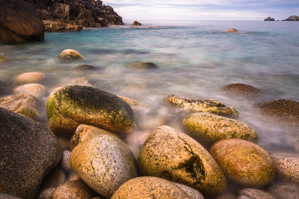 Giant Pebbles Canvas Print by Andrew Michael