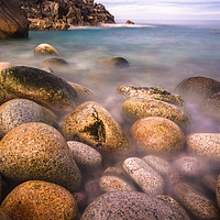 Buy canvas prints of Rocky cove near Land's End by Andrew Michael