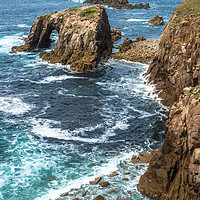 Buy canvas prints of Enys Dodnan and the Armed Knight at Lands End 2 by Andrew Michael