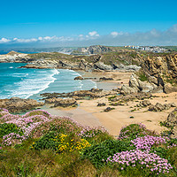 Buy canvas prints of Newquay coast by Andrew Michael
