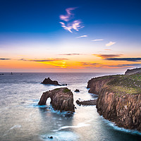 Buy canvas prints of Enys Dodnan and the Armed Knight at dusk by Andrew Michael