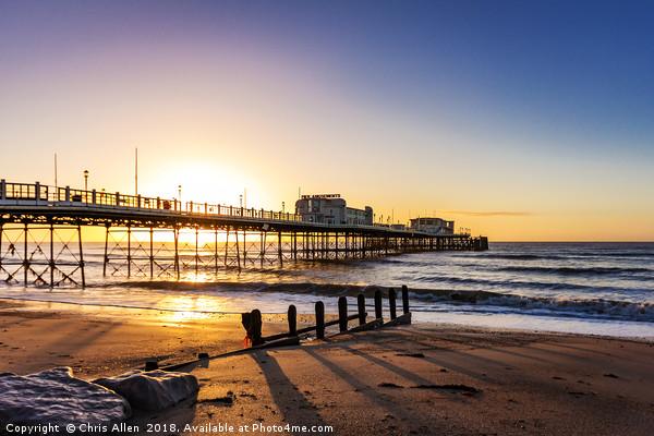 Sunrise Worthing Pier Canvas print by Chris Allen