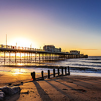 Buy canvas prints of Sunrise Worthing Pier by Chris Allen