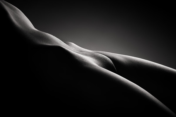 Bodyscape of nude woman Framed Mounted Print by Johan Swanepoel