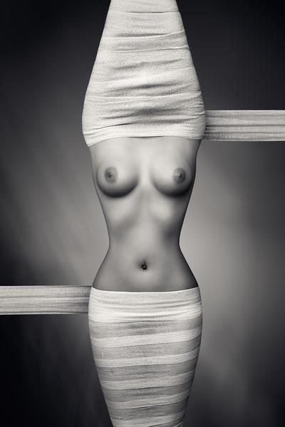 Nude woman fine art 21 Acrylic by Johan Swanepoel
