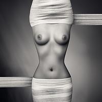 Buy canvas prints of Nude woman fine art 21 by Johan Swanepoel