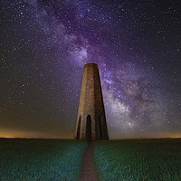 Buy canvas prints of Daymark and the Night Sky by David Neighbour