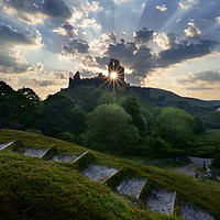 Buy canvas prints of Corfe Sparkle by David Neighbour