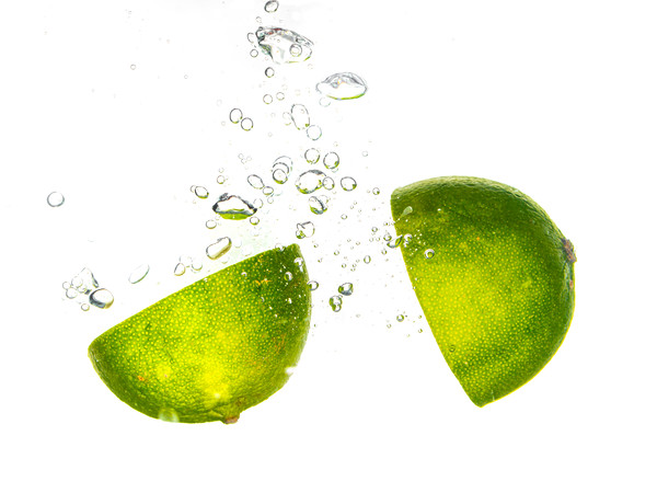 Food Lime Splash Framed Mounted Print by Gareth Williams