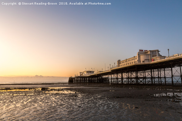 Worthing Pier Sunrise Canvas print by Stewart Reading-Brown