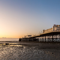 Buy canvas prints of Worthing Pier Sunrise by Stewart Reading-Brown