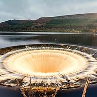 Buy canvas prints of Ladybower Reservoir Plug Hole by Tim Hill