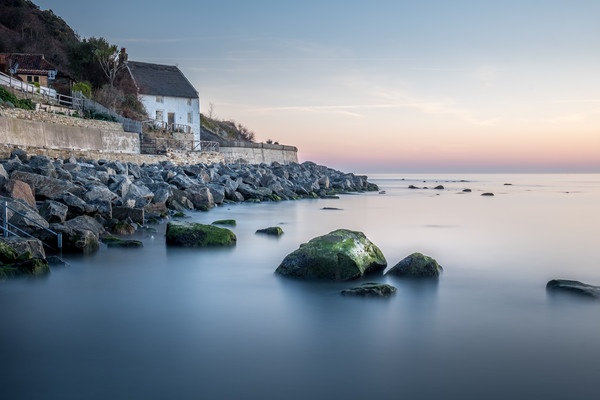 Runswick Bay Fisherman's Cottage on the North East Canvas print by Tim Hill