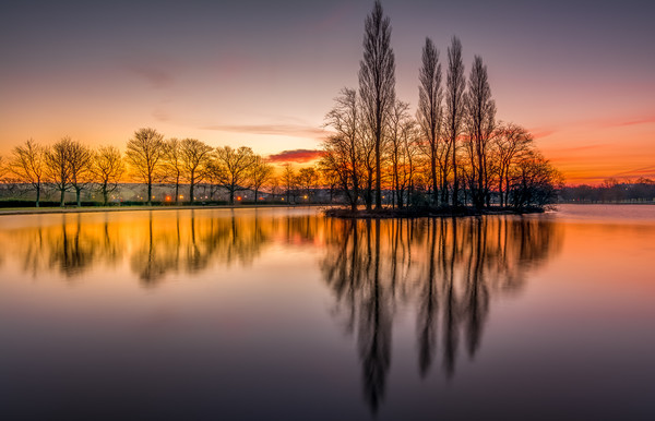 Pontefract Park Lake, West Yorkshire, UK Canvas Print by Tim Hill