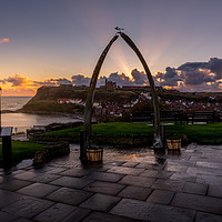Buy canvas prints of Whale Bones above Whitby Harbour in Yorkshire by Tim Hill