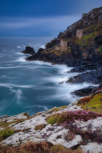 Crown Engine Houses Botallack Mine Cornwall Canvas Print by Tim Hill
