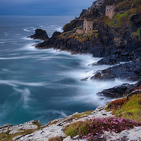 Buy canvas prints of Crown Engine Houses Botallack Mine Cornwall by Tim Hill