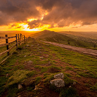 Buy canvas prints of Great Ridge Sunrise Mam Tor, Edale, Peak District by Tim Hill
