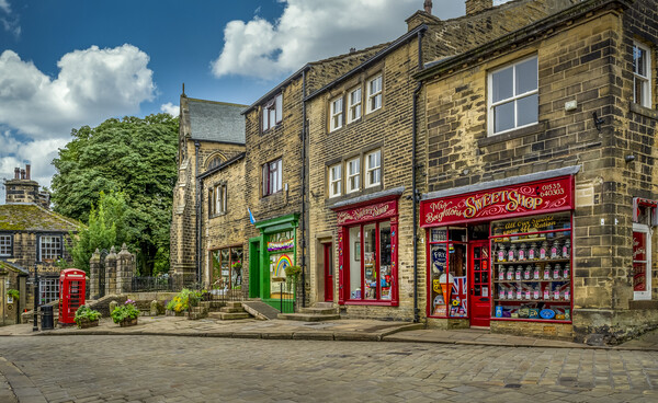 Haworth Main Street Bronte Country Yorkshire Print by Tim Hill