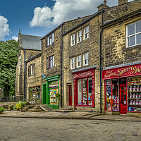 Buy canvas prints of Haworth Main Street Bronte Country Yorkshire by Tim Hill