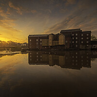Buy canvas prints of Queens Mill river Aire Castleford by Tim Hill